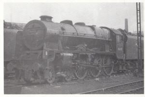 46155 Lancer Train Royal Scot Class Longsight Sheds Manchester Station Postcard