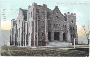 The New M. E. Church in Lewiston, Idaho, ID, 1911 Divided Back