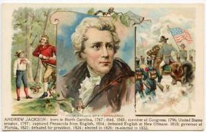 Andrew Jackson 1908 Donaldson Set Postcard