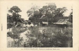 CPA Francais Congo Afrique - Factorerie inindée aux bautes eaux (86654)
