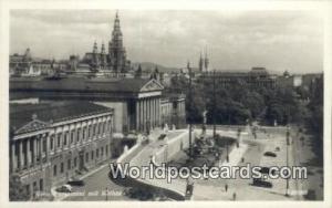 Wien, Vienna Austria, Österreich Parlament mit Rathaus  Parlament mit Rathaus