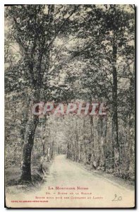 Old Postcard The Black Mountain Edges of the Acequia Rous Road Woods Canmates