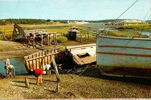 Massachusetts Cape Cod National Seashore Old Fishing Boats and Shucking House