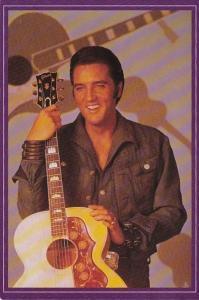 Elvis Presley With Favorite Guitar 1956 Gibson J-200
