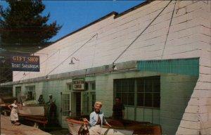 Hawley Greentown PA Lake Wallenpaupack PA Boat Showroom Postcard