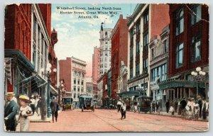Atlanta Georgia~Whitehall Street from Hunter~Rich Bros 5&10c Store~Cars~1916