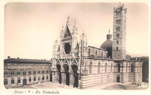 Italy Old Vintage Antique Post Card Siena La Cattedrale Writing on back