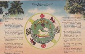 Official Government Seal Of Puerto Rico