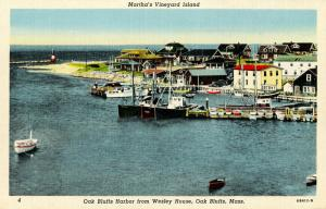 MA - Martha's Vineyard Island. Oak Bluffs. The Harbor from Wesley House