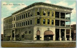 Bartlesville, Oklahoma Postcard ALMEDA HOTEL Street View Dated 1912