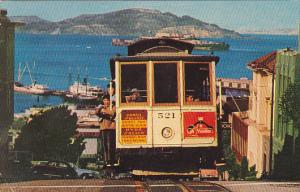 Trolley Cable Car on San Francisco Hill 1967