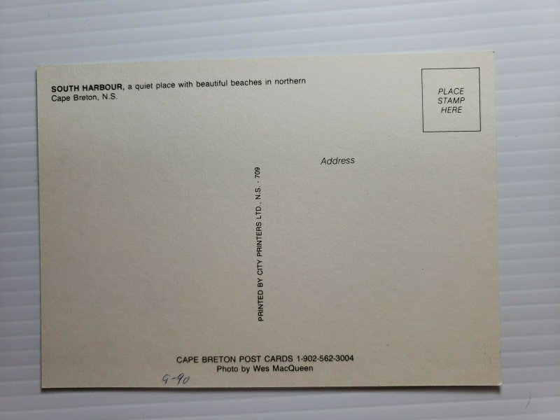 VTG Postcard South Harbour North Cape Breton Nova Scotia Canada 1990   395