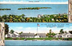 Michigan Copper Harbor Old Fort Wilkins On Lake Fanny Hooe