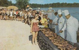 ROTHBURY, Michigan, 1950-1960s ; Weekly Charcoal Broiled Steak Fry Jack & Jil...