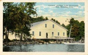 CT - East Hampton. Carrier's Pavilion, Lake Pocotopaug