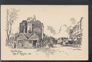 London Postcard - Pencil Sketch of The Old Forge, High Street, Highgate  HM324