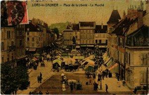 CPA AK Lons le Saunier- Place de la Liberte,le Marche FRANCE- (1044295)
