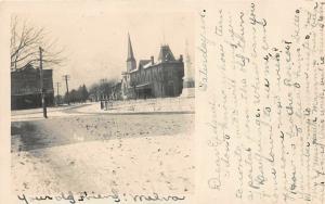 F65/ LaGrange Ohio RPPC Postcard 1906 Winter Church Stores 7