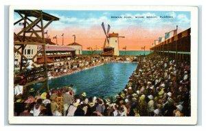 Postcard Roman Pool, Miami Beach, Florida Y65