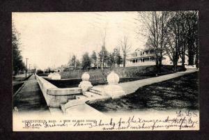 MA Vintage High St Greenfield Mass Massachusetts Raphael TUCK & Sons Postcard
