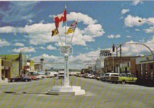 Canada British Columbia Dawson Creek Mile Zero Alaska Highway