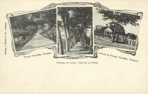 honduras, AMAPALA, Multiview, Parque Bardales & Morazan, Avenida de Cocos (1899)