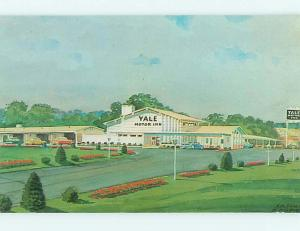 Unused Pre-1980 OLD CARS & YALE MOTOR INN MOTEL Wallingford CT s5226@