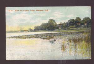 WARSAW INDIANA CENTER LAKE VIEW VINTAGE POSTCARD BUCHANAN MICH.