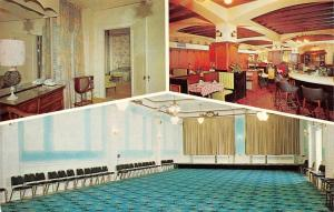 NY, New York  HOTEL UTICA  Room~TV~Coffee Shop~Banquet Room  c1950's Postcard