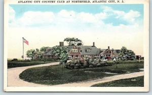 Postcard NJ Atlantic City Country Club at Northfield B8