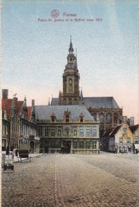 FURNES, West Flanders, Belgium, 1900-1910's; Palais De Justice Et Le Beffroi ...