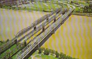 Tennessee Memphis Bridge Over The Mississippi River