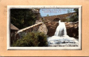 New York Catskills GLen Falls Stone Bridge At Shady 1909