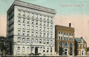 Toledo OH~Fraternity Row: Horse & Wagon, Bike~YMCA~BPOE Elk's~FOE Eagles~1910