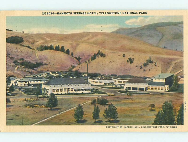 Linen MAMMOTH SPRINGS MOTEL Yellowstone National Park Wyoming WY u8898