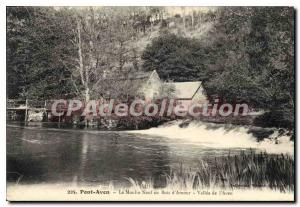 Old Postcard Pont Aven Le Moulin Neuf in Bois d'Amour Valley of Aven