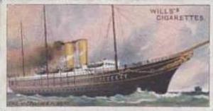 Wills Vintage Cigarette Card Celebrated Ships No 6 Victoria & Albert  1911