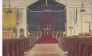 Rhode Island Newport Chapel Interior U S Naval Training Station