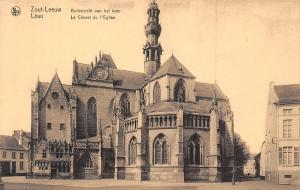 Belgium Zout Leeuw Buitenzicht van het koor Leau Le Chevet de l'Eglise Church