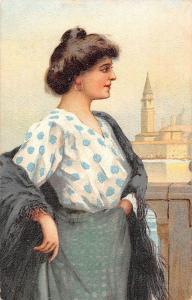 Vintage Fashion Lady Woman Femme Dame, Postcard Postkarte