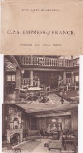 * postcard set , C.P.S. EMPRESS of FRANCE , 1920-30s