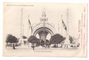 Paris Expo 1900 Porte Monumentale Advert Jeweler UDB