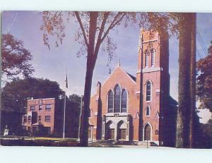 Unused Pre-1980 CHURCH SCENE Saratoga Springs New York NY L3572