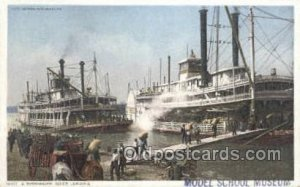 Mississippi River, USA Steamboat, Ship Unused close to perfect corners