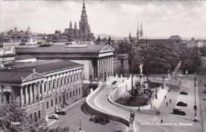 Austria Vienna Parliament mit Rathaus Real Photo