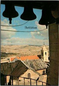 CHRISTMAS BELLS BETHLEHEM ISRAEL Chrome Color Postcard