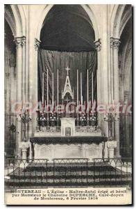 Old Postcard Montereau The Church Altar erected and blessed by Mr. Chamoine D...