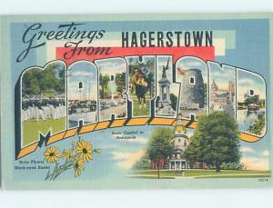 Linen BIG LETTERS Hagerstown Maryland MD ho7127