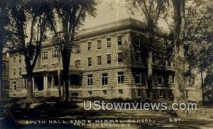 Real Photo, South Hall, State Normal School Farmington ME Postal Used Unknown