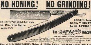 1903 Carbo magnetic Razor Original Print Ad 2T1-47